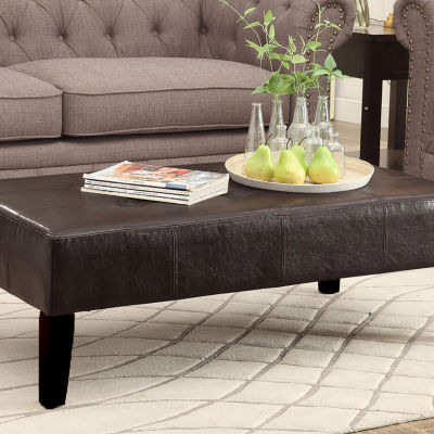 4D Concepts Fontana Large Faux Leather Coffee Table