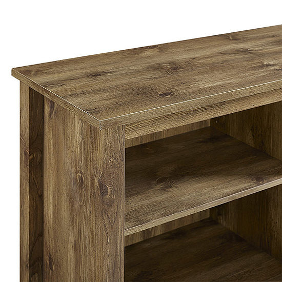 """70"""" Wood Media TV Stand Console with Electric Fireplace"""