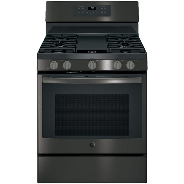 "GE® 30"" 5.0 cu ft Free-Standing Gas Convection Range"