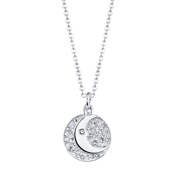 Moon disk neckclace crystal sophistication crystal accent moon disk pendant necklace aloadofball Images