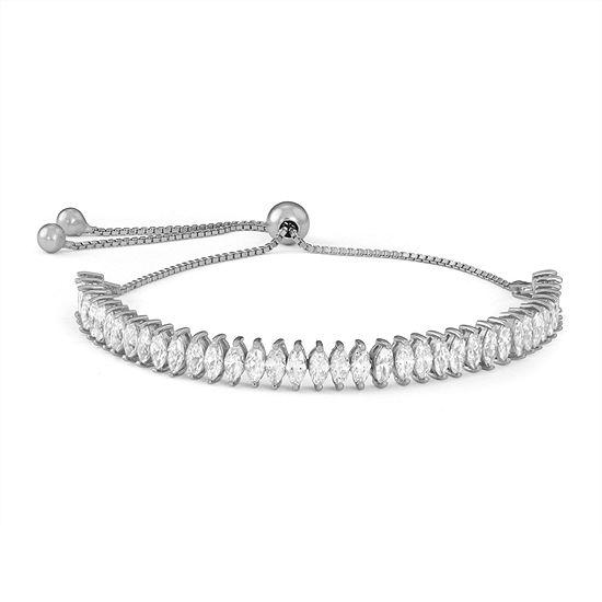 Diamonart 3 1/2 CT. T.W White Cubic Zirconia Sterling Silver Bolo Bracelet