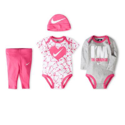 Nike 4-Piece Boxed Gift 4-pc. Bodysuit Set-Baby Girls