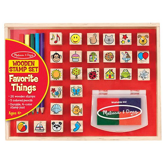 Melissa Doug Wooden Favorite Things Stamp Set