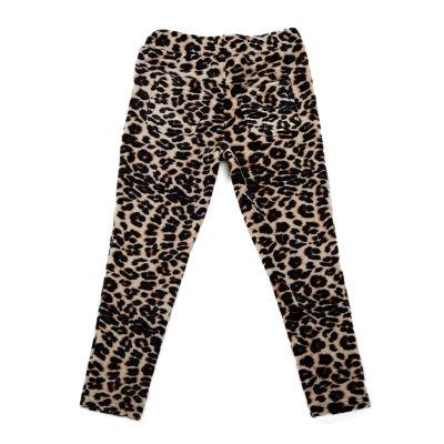 Love At First Sight Cheetah Low Pile Fur Cheetah Velour Leggings