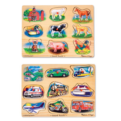 Melissa & Doug® Sound Puzzle Bundle (#267 & #268)