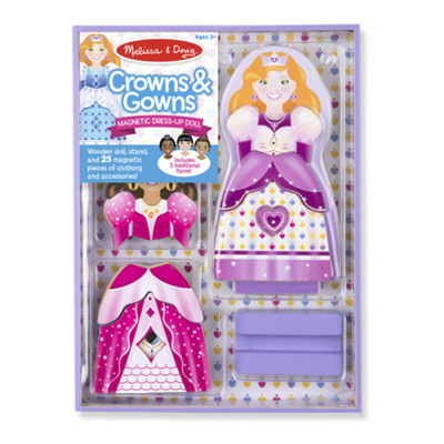 Melissa & Doug Magnetic Dress-Up - Crowns & Gowns