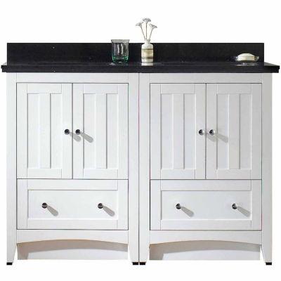 American Imaginations Shaker Rectangle Floor Mount 8-in. o.c. Center Faucet Vanity Set