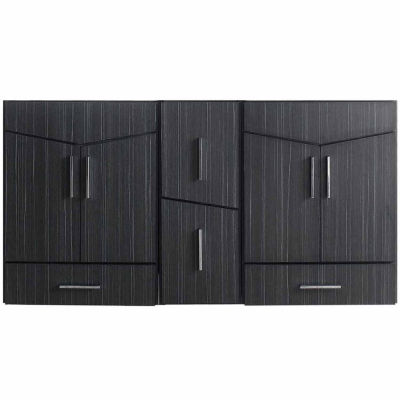 American Imaginations Zen Rectangle Modern Wall Mount Plywood-Melamine Vanity Base Set Only In DawnGrey