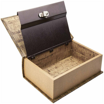 Barska Antique Map Book Lock Box with Key Lock
