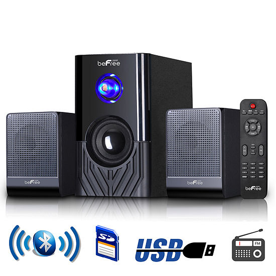 Be Free Sound 2.1 Channel Surround Sound Bluetooth Speaker System