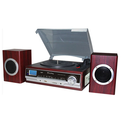 TechPlay 3 speed Turntable with MP3/Cassette Player