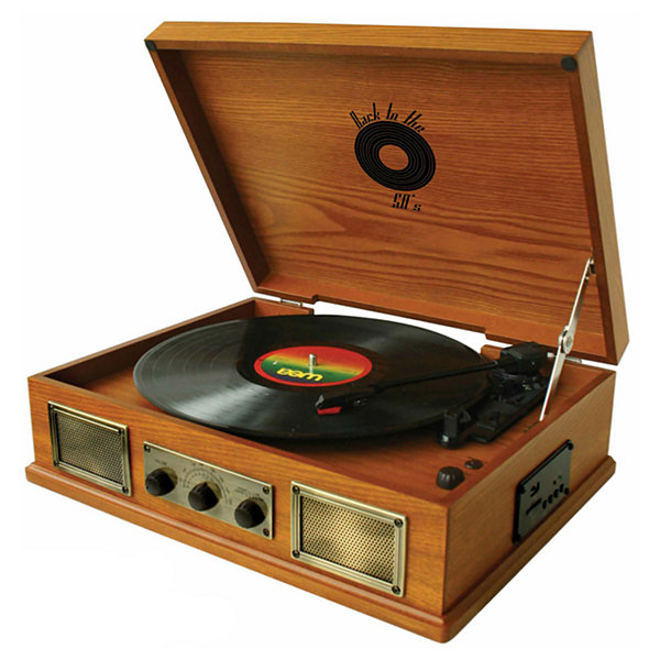 Back To The 50's 3 Speed Wooden Turntable