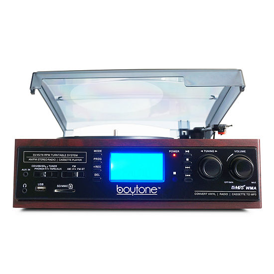 Boytone Multi RPM Turntable w/SD/AUX/USB/RCA/3.5mmConnectivity
