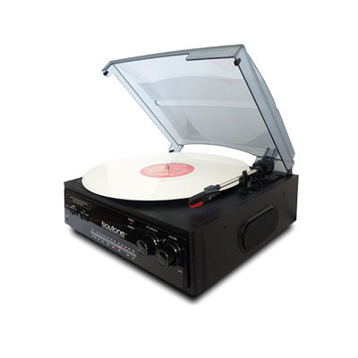 Boytone Home 3 Speed Turntable System with 3.5mm Headphone Jack
