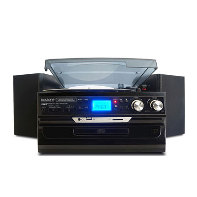 Boytone 7 in 1 Bluetooth 3 Speed Home Turntable System with CD