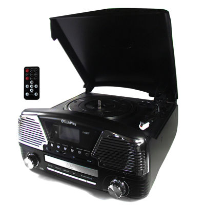 TechPlay 3 Speed Bluetooth Turntable