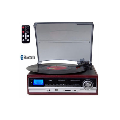 TechPlay 3-Speed Turntable with Bluetooth