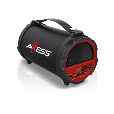 """Axess Indoor-Outdoor HIFI Bluetooth 2.1 Speaker with 4"""" Subwoofer and Vibrationg Disk"""""""