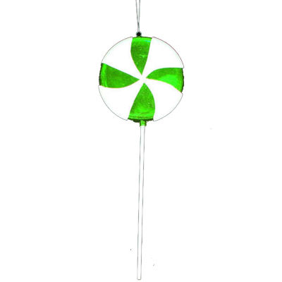 "Large Candy Fantasy Green Apple Swirl Lollipop Christmas Ornament Decoration 22"""