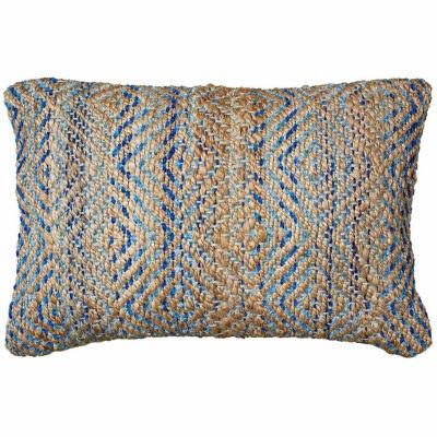 Timbuktu Jute/Chenille Geometric Throw Pillow
