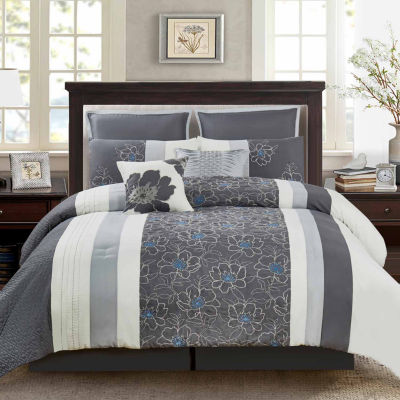 Wonder Home Catalina 8PC Embellished Comforter Set