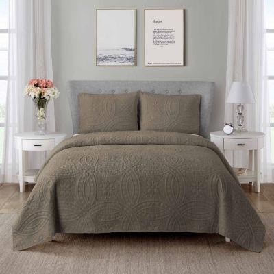 Wonder Home Regal 3PC Cotton Solid Quilt Set