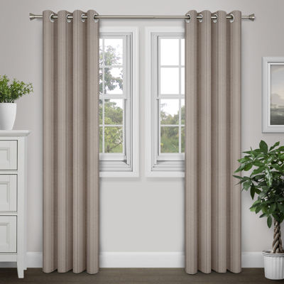 Journee Home Joshua 84-in Grommet Noise Reduction Blackout Curtain Panel Pair