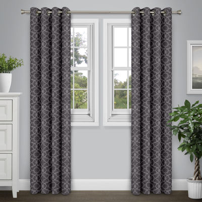 Journee Home Arthur 84-in Grommet Energy Efficient Blackout Curtain Panel