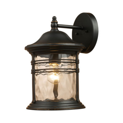 Madison 1-Light Outdoor Wall Sconce In Matte Black