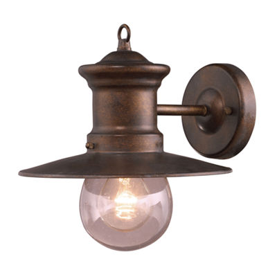 Maritime 1-Light Outdoor Wall Sconce In Hazlenut Bronze