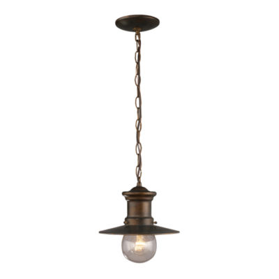 Maritime 1-Light Outdoor Pendant In Hazlenut Bronze