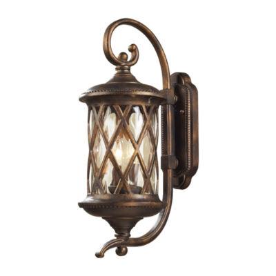 Barrington Gate 2-Light Outdoor Sconce In Hazlenut Bronze And Designer Water Glass