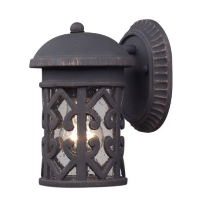 Tuscany Coast 1-Light Outdoor Sconce In Weathered Charcoal