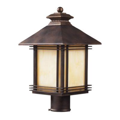 Blackwell 1-Light Outdoor Post Lamp In Hazelnut Bronze
