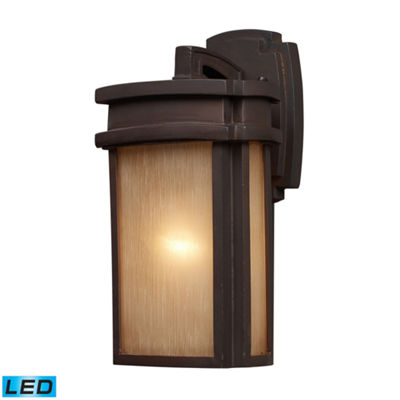 Sedona 1-Light Outdoor LED Wall Sconce In Clay Bronze