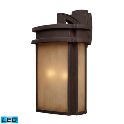 Sedona 2-Light Outdoor LED Wall Sconce In Clay Bronze