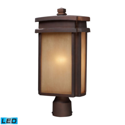Sedona 1-Light Outdoor LED Pier Mount In Clay Bronze