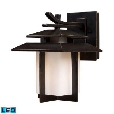 Kanso 1-Light Outdoor LED Sconce In Hazelnut Bronze