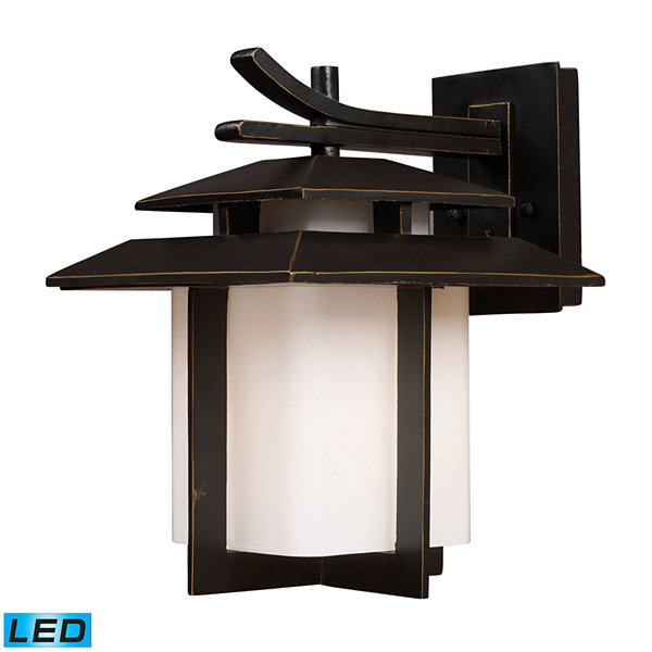 Kanso 1-Light Outdoor LED Sconce In Hazelnut Bronze