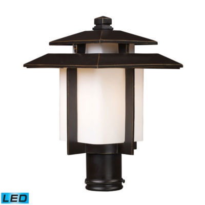 Kanso 1-Light Outdoor LED Pier Mount In Hazlenut Bronze