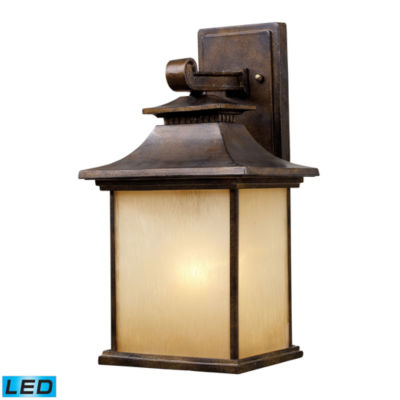 San Gabriel 1-Light Outdoor LED Sconce In Hazelnut Bronze