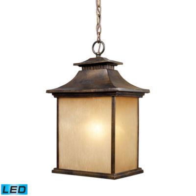 San Gabriel 1-Light Outdoor LED Pendant In Hazelnut Bronze