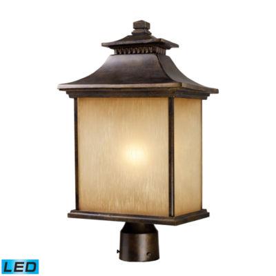 San Gabriel 1-Light Outdoor LED Post Lamp In Hazelnut Bronze