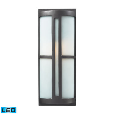 Trevot 1-Light Outdoor LED Sconce In Graphite