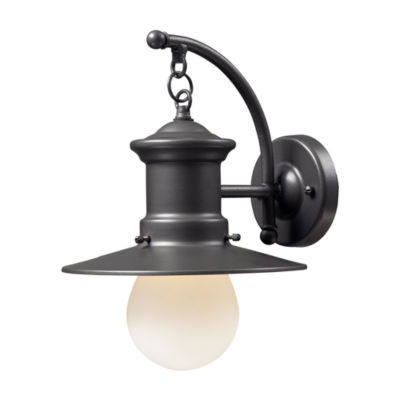 Maritime 1-Light Outdoor Wall Sconce In Graphite