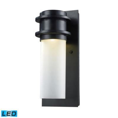 Freeport 1-Light Outdoor LED Wall Sconce In Matte Black