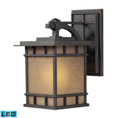 Newlton 1-Light LED Outdoor Sconce In Weathered Charcoal
