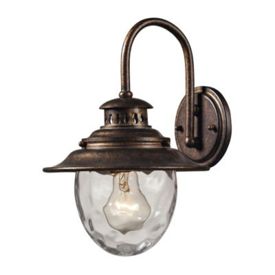 Searsport 1-Light Outdoor Wall Sconce In Regal Bronze