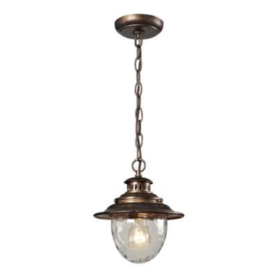 Searsport 1-Light Outdoor Pendant In Regal Bronze