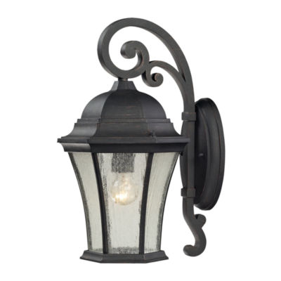Wellington Park 1-Light Outdoor Sconce In Weathered Charcoal